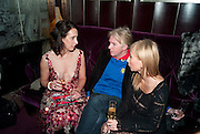 LAUREN GOLDSTEIN CROWE; PHILIP TREACY;  MARGARITA WENNBERG;  Lauren Goldstein Crowe hosts reception to thank those that particitated in the research for her book: Isabella, A Life in Fashion. The Fumoir. Claridge's. London. 8 November 2010. -DO NOT ARCHIVE-© Copyright Photograph by Dafydd Jones. 248 Clapham Rd. London SW9 0PZ. Tel 0207 820 0771. www.dafjones.com.