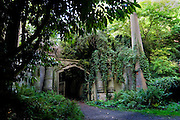Entrance to the Circle of Lebanon at Highgate Cemetery London -