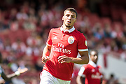 Ruben Dias from Benfica  during the Emirates Cup 2017 match between Leipzig and Benfica at the Emirates Stadium, London, England on 30 July 2017. Photo by Sebastian Frej.