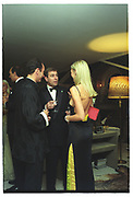 Robert Hanson,Prince Andrew, Amanda Cronin,Mala Lindsay dinner party, Chelsea, London. September 1999