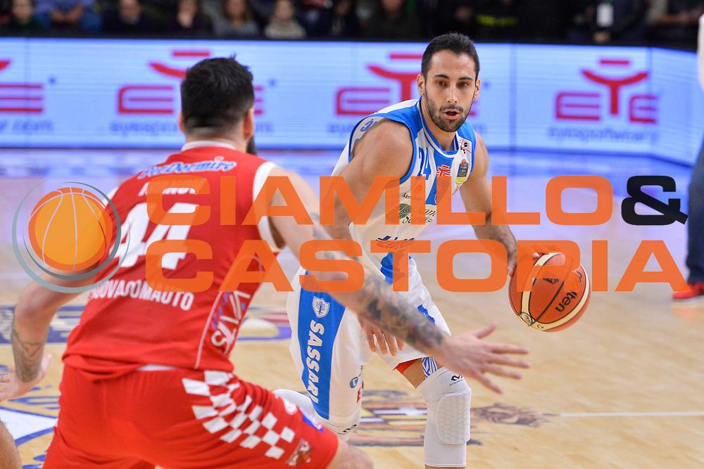 SASSARI 16 DICEMBRE 2017<br /> Banco di Sardegna Dinamo Sassari - The Flexx Pistoia<br /> LegaBasket LBA PosteMobile 2017/2018<br /> NELLA FOTO Rok Stipcevic<br /> FOTO CIAMILLO - Luigi Canu