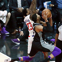 26 December 2017: Sacramento Kings guard Garrett Temple (17) goes for the layup against LA Clippers guard Lou Williams (23) during the LA Clippers 122-95 victory over the Sacramento Kings, at the Staples Center, Los Angeles, California, USA.