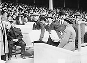 Title: Geo. Cohan at TITANIC Game. Date Created/Published: [1912 April 21]. Summary: Photo shows George M. Cohan at baseball game to raise funds for the survivors of the RMS Titanic disaster, Polo Grounds, New York City.