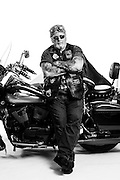 Every year Bruce Thibodeau jumps on his Harley and heads to Laconia Bike Week in New Hampshire. This Vietnam Veteran wears his war patches with pride. <br />