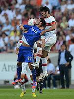Fussball Europa League Play Offs:  Saison   2012/2013     VfB Stuttgart - Dynamo Moskau  22.08.2012 Kevin Kuranyi (li, Dynamo Moskau)  gegen Serdar Tasci (VfB Stuttgart)