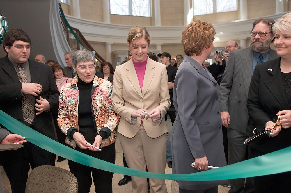 Baker Center Dedication..Ribbon Cutting..Mark Lucas,.Morgan Allen, Phyllis Bernt,  Dominic Barbato