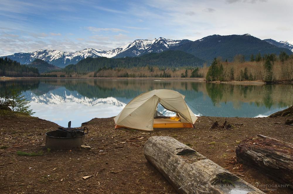 Baker Lake backcountry campsite, North Cascades Washington