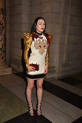 Ella Catliff at the Balenciaga Shaping Fashion VIP Preview, The V&A Museum, London England. 24 May 2017.<br /> Photo by Dominic O'Neill/SilverHub 0203 174 1069 sales@silverhubmedia.com