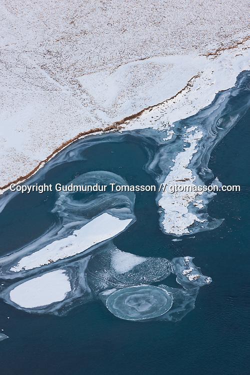 The river Hvítá in Borgarfjörður during winter. Iceland.