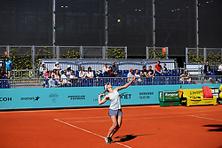 May 4, 2019 - Madrid, Spain - Marta Kostyuk of Ukrania in action during day one of the Mutua Madrid Open at La Caja Magica  in Madrid on 4th May, 2019. (Credit Image: © Juan Carlos Lucas/NurPhoto via ZUMA Press)