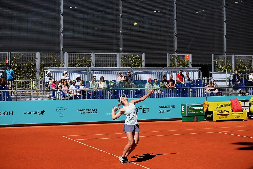 May 4, 2019 - Madrid, Spain - Marta Kostyuk of Ukrania in action during day one of the Mutua Madrid Open at La Caja Magica  in Madrid on 4th May, 2019. (Credit Image: © Juan Carlos Lucas/NurPhoto via ZUMA Press)
