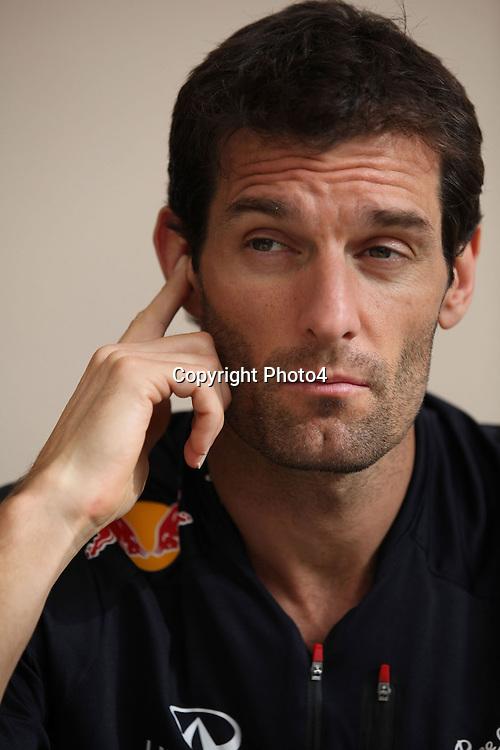 &copy; Photo4 / LaPresse<br /> 19/04/2012 Sakhir<br /> Sport <br /> Grand Prix Formula One  Bahrain-Sakhir 2012<br /> In the pic: Mark Webber (AUS), Red Bull Racing, RB8