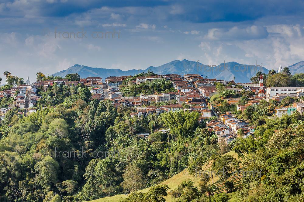 Salamina Cityscape Skyline  Caldas in Colombia South America