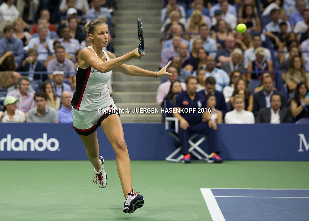 KAROLINA PLISKOVA (CZE)<br /> <br /> Tennis - US Open 2016 - Grand Slam ITF / ATP / WTA -  USTA Billie Jean King National Tennis Center - New York - New York - USA  - 8 September 2016.