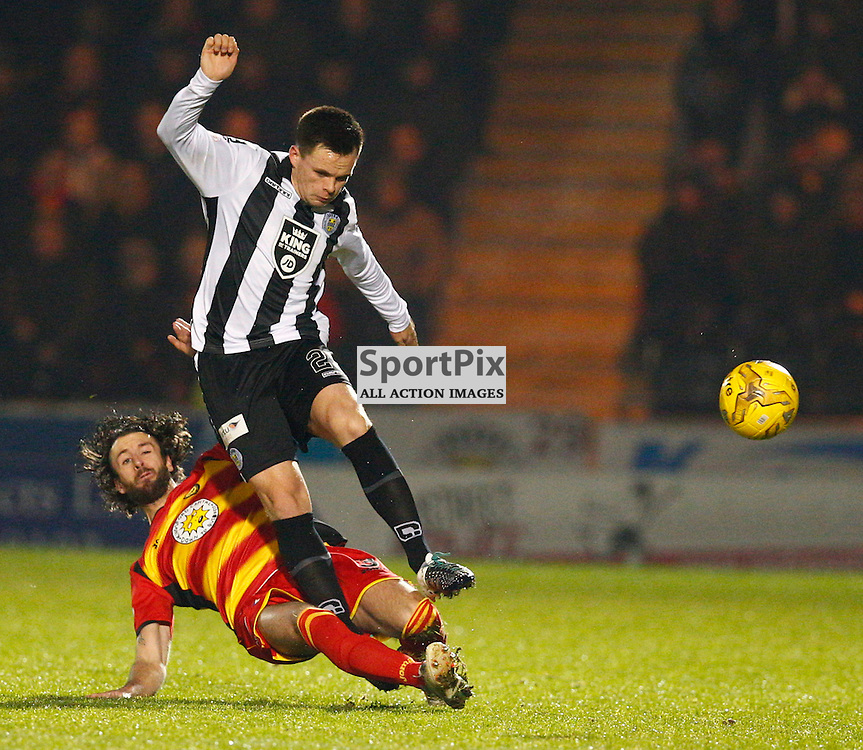 St.Mirren v Partick Thistle, Scottish Cup 4th round....Lawrence Shankland and Daniel Seaborne battle for the ball.....(c) STEPHEN LAWSON | SportPix.org.uk