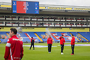 Liverpool Manager Jurgen Klopp on the pitch with players before the Barclays Premier League match between Crystal Palace and Liverpool at Selhurst Park, London, England on 6 March 2016. Photo by Phil Duncan.
