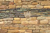 Chacoan masonry at Aztec Ruins National Monument, New Mexico