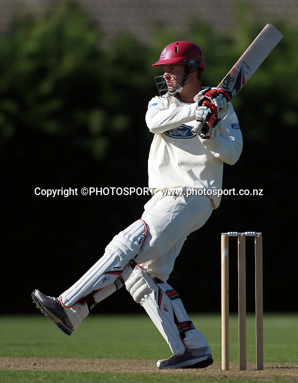 Northern player Brad Wilson batting. Wellington Firebirds v Northern Knights, 4 Day Plunket Shield cricket match, Lincoln Number 3, Monday 14 November 2011. Photo : Joseph Johnson / photosport.co.nz