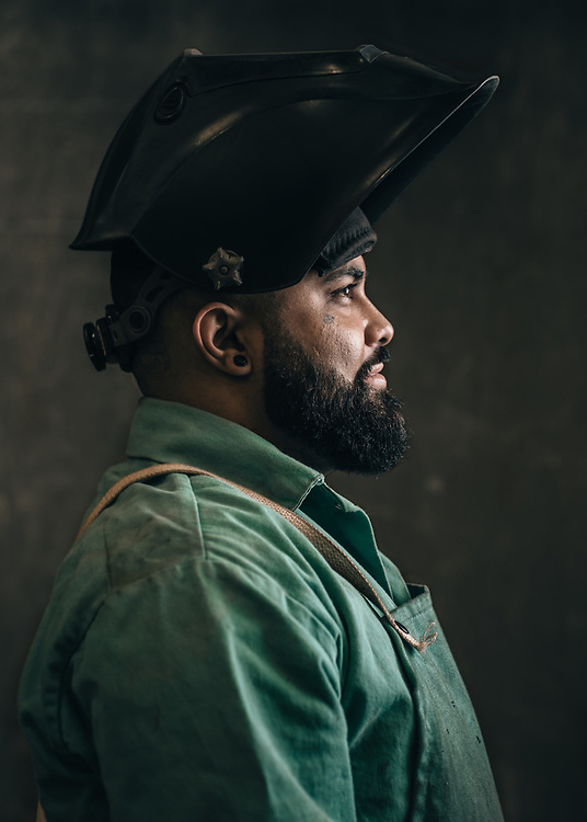 Anthony Ramirez, reborn welder and artist. Vallejo, CA