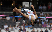Jul 21, 2019; London, United Kingdom; Majd Eddin Ghazal (SYR) wins the high jump at 7-6 1/2 (2.30m) during the London Anniversary Games at London Stadium at  Queen Elizabeth Olympic Park.