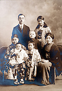 traditional family studio portrait Japan ca 1930s