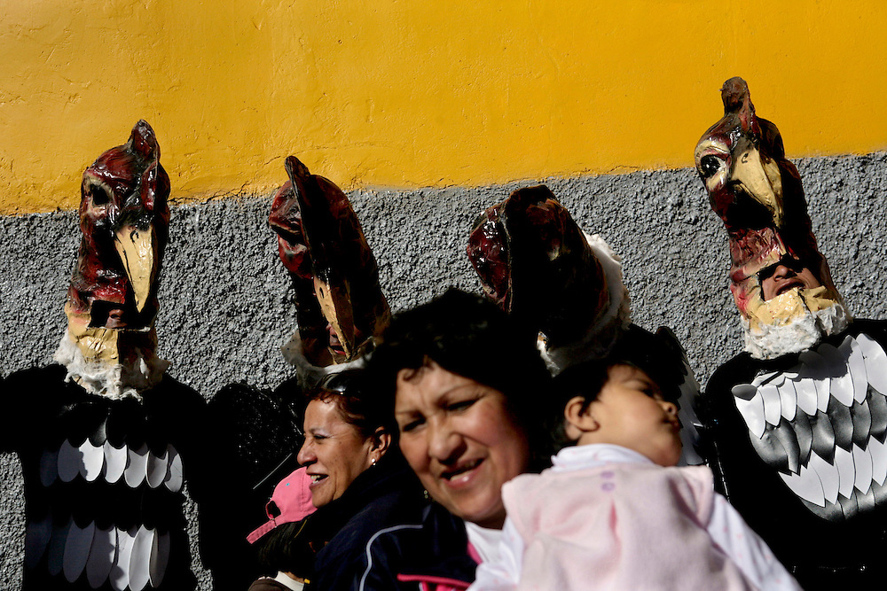 The celebrations in Pisac for the virgin of El Carmen take place every year. People from the area dress up in traditional costumes such as condors. <br /> <br /> This essay is about the commercialization of the Incan culture in Cusco, Machu Picchu and all of the other towns and ruins that are part of the Incan Sacred Valley in the Andes of Peru.  Because of the large quantity of tourists that visit the sites year round, many natives have built their businesses around tourism. Everything &quot;Incan&quot; is offered and sold to tourists and tour guides invade every corner of this sacred sites.