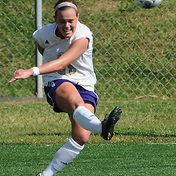 Photos by Tom Kelly IV<br /> WCU's Ashley Saylor (25) takes a corner kick during the Indiana University of Pennsylvania (IUP) vs West Chester University (WCU) women's soccer game in East Bradford Township, Wednesday afternoon October 2, 2013.