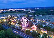 Town of Wallkill, New York - Aerial photographs of the Orange County Fair on July 24, 2016.