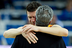 Vlado Ilievski of Macedonia and Marin Dokuzovski, head coach of Macedonia disappointed after the basketball game between National basketball teams of F.Y.R. of Macedonia and Russia of 3rd place game of FIBA Europe Eurobasket Lithuania 2011, on September 18, 2011, in Arena Zalgirio, Kaunas, Lithuania. Russia defeated Macedonia 72-68 and won bronze medal. (Photo by Vid Ponikvar / Sportida)