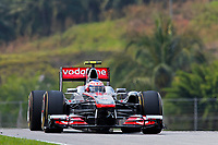 MOTORSPORT - F1 2011 - MALAYSIA GRAND PRIX - KUALA LUMPUR (MAL) - 07 TO 10/04/2011 - PHOTO : FRANCOIS FLAMAND / DPPI - <br /> BUTTON JENSON (GBR) - MCLAREN MERCEDES MP4-26 - ACTION