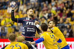 Thomas Mogensen of SG Flensburg-Handewitt during handball match between RK Celje Pivovarna Lasko and SG Flensburg Handewitt in VELUX EHF Champions League, on November 26, 2017 in Dvorana Zlatorog, Celje Slovenia. Photo by Ziga Zupan / Sportida