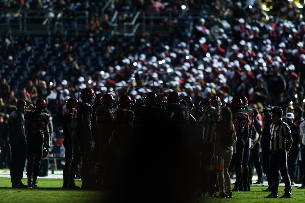 16September 2017:  The Aztecs beat #19 Stanford 20-17 at San Diego Stadium. <br /> www.sdsuaztecphotos.com
