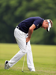 England's Ian Poulter appears dejected during day three of the 2017 BMW PGA Championship at Wentworth Golf Club, Surrey.