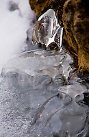 Bizarre and wonderful ice formations on the banks of a stream during the cold spell of February 2012 in Switzerland.