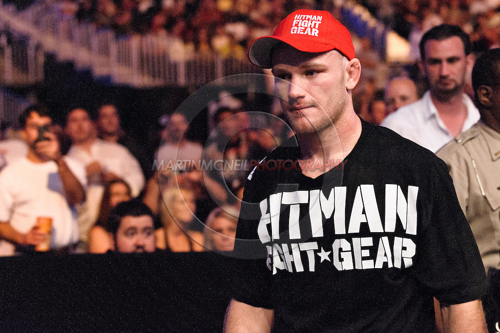 "ATLANTA, GEORGIA, SEPTEMBER 6, 2008: Martin Kampmann exits the arena after his stoppage loss at ""UFC 88: Breakthrough"" inside Philips Arena in Atlanta, Georgia on September 6, 2008"