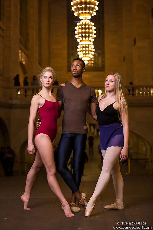 New York City Dance Photography- Dance As Art Grand Central ensemble with Erika Citrin, Daniel White and Maddison Dawson
