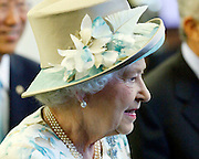 Queen Elizabeth ll arrives at the United Nations headquarters, Tuesday, July 6, 2010. (AP Photo/Stuart Ramson)