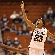 Tyonna Williams, Temple, in action during the Temple Vs East Carolina Quarterfinal Basketball game during the American Women's College Basketball Championships 2015 at Mohegan Sun Arena, Uncasville, Connecticut, USA. 7th March 2015. Photo Tim Clayton