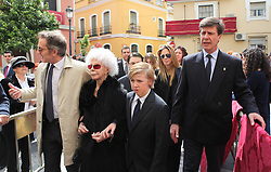 The Duchess of Alba celebrates her 87th birthday with family visiting the Christ of the Gypsies. Cayetana was accompanied on a special day for her husband Alfonso Diez, his son Cayetano, his ex-wife, Genoveva Casanova, and the couple's son, Luis,  Sevilla. Spain, March 28, 2013. Photo by S.P. Staff / DyD Fotografos / i-Images...SPAIN OUT..