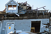April 28, 2014 - Vilonia, Arkansas, U.S. -<br /> <br /> Killer Tornadoes Rip Through Arkansas And Oklahoma<br /> <br /> A home lies in ruins in the small town of Vilonia in central Arkansas' Faulkner county Monday morning after a tornado tore an 80-mile path from Ferndale to El Paso Arkansas Sunday night. Tornado season has gotten off to a deadly start as tornadoes ripped through south-central United States on Monday leaving whole neighbourhoods destroyed and at least 17 people killed in Arkansas. It's the year's worst tornado outbreak so far, with meteorologists listing 31 tornado reports on Sunday alone.<br /> ©Exclusivepix