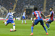 Reading FC midfielder Oliver Norwood has a shot on goal during the The FA Cup Quarter Final match between Reading and Crystal Palace at the Madejski Stadium, Reading, England on 11 March 2016. Photo by Mark Davies.