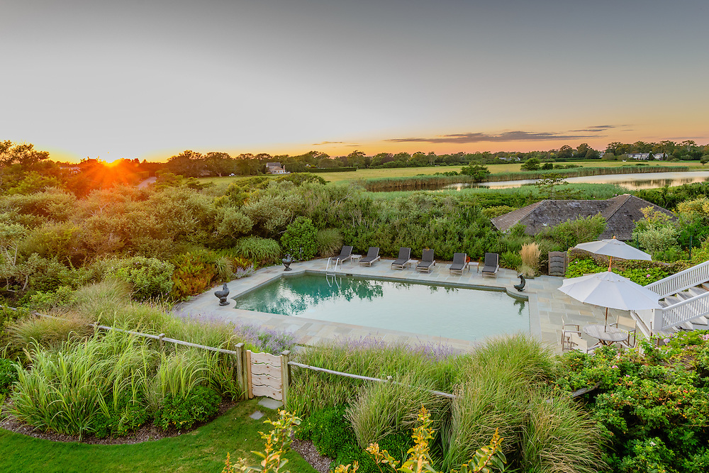 Pool, Sunset, Lily Pond Lane, East Hampton, NY