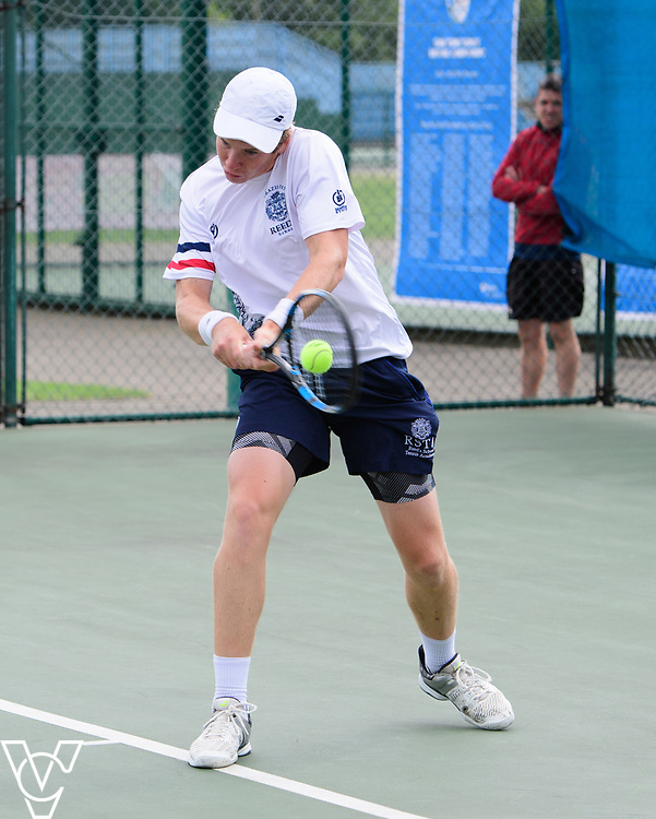 Glanville Cup - Reed's School [3] - Jack Molloy<br /> <br /> Team Tennis Schools National Championships Finals 2017 held at Nottingham Tennis Centre.  <br /> <br /> Picture: Chris Vaughan Photography for the LTA<br /> Date: July 14, 2017