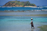 The Island of Martinique, a french overseas Departement in the Caribbean<br /><br />woman walking at Point de Diamant<br /><br />Photo by Owen Franken