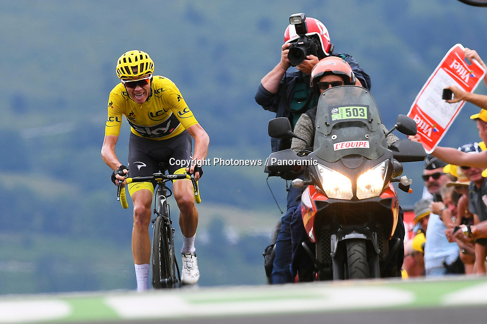 PEYRAGUDES, FRANCE - JULY 13 : FROOME Christopher (GBR) Rider of Team SKY during stage 12 of the 104th edition of the 2017 Tour de France cycling race, a stage of 214.5 kms between Pau and Peyragudes on July 13, 2017 in Peyragudes, France, 13/07/2017