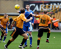 Photo: Ed Godden/Sportsbeat Images.<br />Wolverhampton Wanderers v Cardiff City. Coca Cola Championship. 20/01/2007. Cardiff's Steven Thompson has his shirt pulled by Craig Fleming (R).