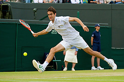 LONDON, ENGLAND - Friday, June 26, 2009: Marin Cilic (CRO) during the Gentlemen's Singles 3rd Round match on day five of the Wimbledon Lawn Tennis Championships at the All England Lawn Tennis and Croquet Club. (Pic by David Rawcliffe/Propaganda)