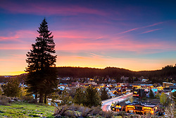 """Downtown Truckee 65"" Photograph of Historic Downtown Truckee shot at sunset from near the Cottonwood restaurant."