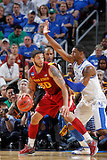 Royce White #30 of the Iowa State Cyclones looks to the basket against Terrence Jones #3 of the Kentucky Wildcats during the third round of the NCAA men's basketball championship on March 17, 2012 at KFC Yum! Center in Louisville, Kentucky. Kentucky advanced with an 87-71 win. (Photo by Joe Robbins)