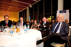 Igor Luksic, Peter Kukovica, Dusan Sesok, Janez Kocijancic during the Slovenia's Athlete of the year award ceremony by Slovenian Athletics Federation AZS, on November 12, 2008 in Hotel Mons, Ljubljana, Slovenia.(Photo By Vid Ponikvar / Sportida.com) , on November 12, 2010.